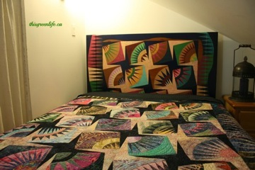 quilt-painted headboard