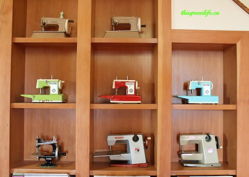 repeated toy sewing machines