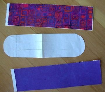 fabric strips for woven heart