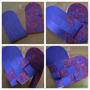 weaving heart collage