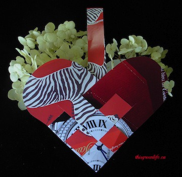 woven paper heart
