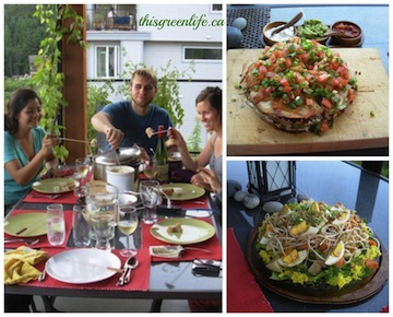 vegetarian feast Collage