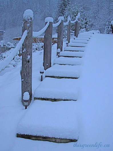 stairs in snow