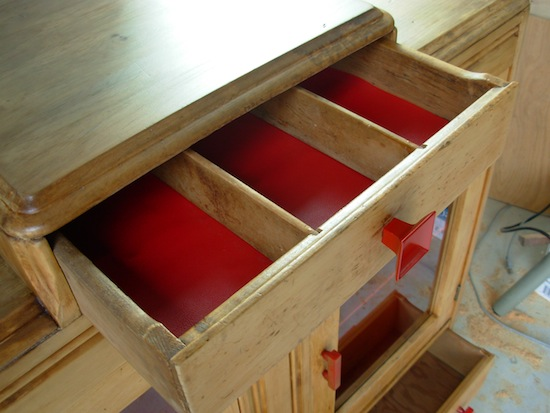 drawers in cabinet
