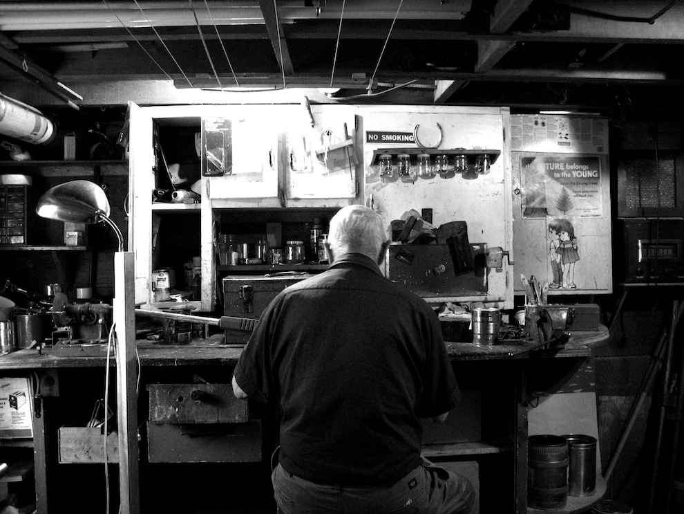 george in his workshop