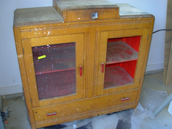 grandpa's cabinet before