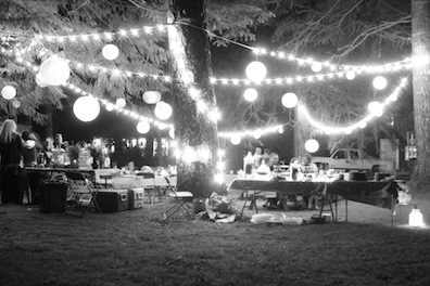 night reception black & white