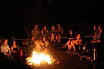 wedding campfire