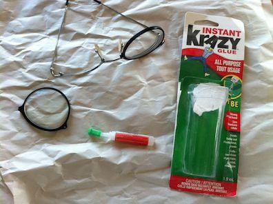 crazy glue glasses