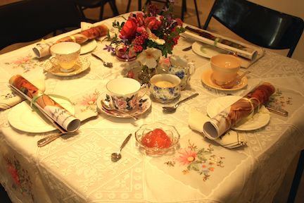 Downton table setting