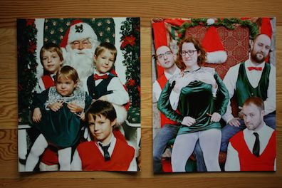 Santa photo then and now