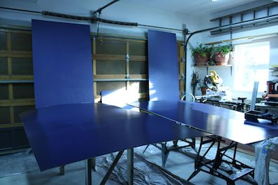 painting ceiling panels midnight blue