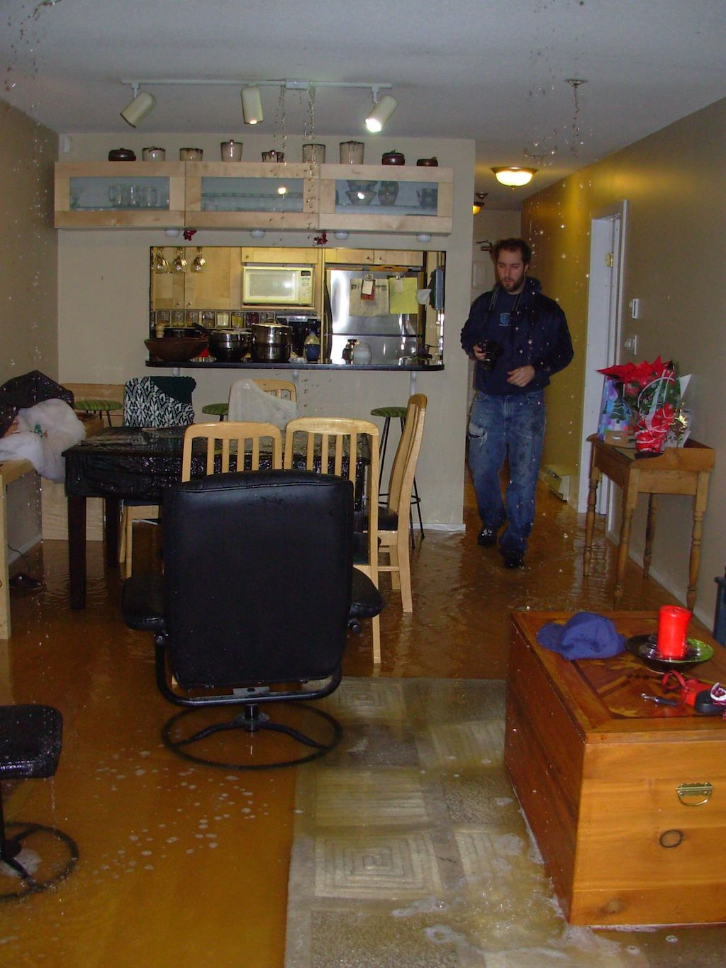 flood in condo