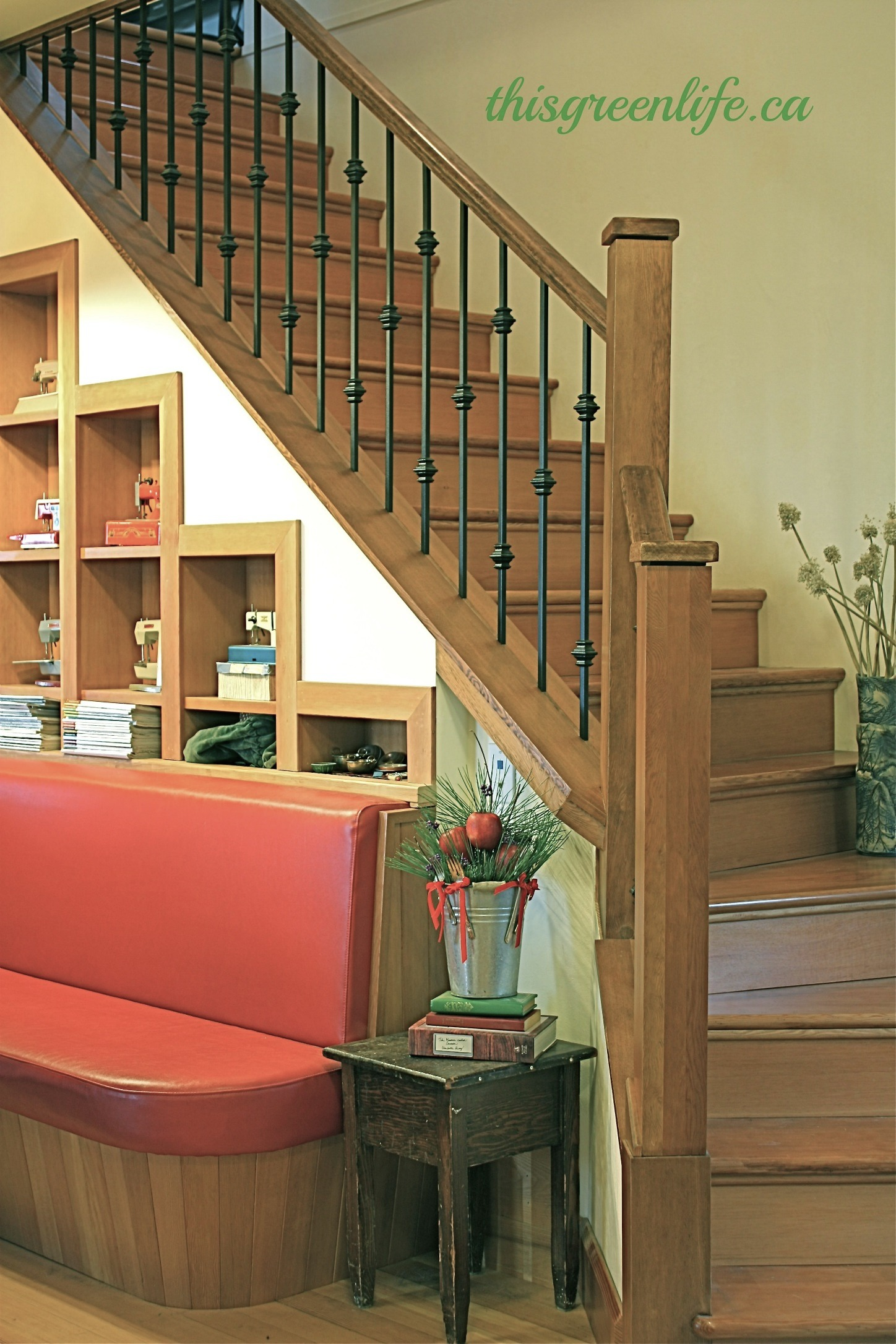 reclaimed stairway
